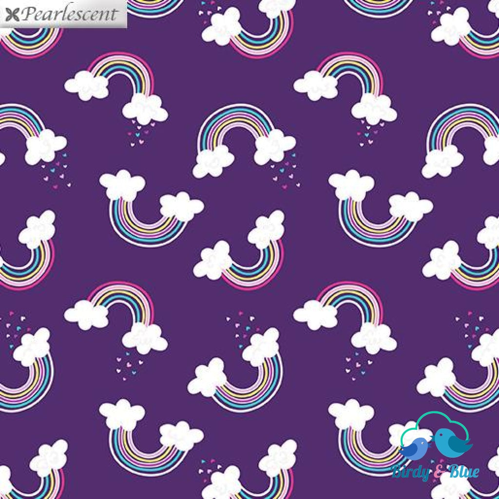 Magical Rainbow Purple (Unicorn Magic Collection) Premium Cotton Fabric