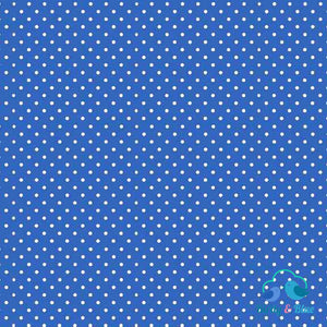 Marine Blue Dot (Basics Collection) Premium Cotton Fabric