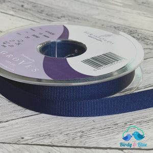 Navy Grosgrain Ribbon 10Mm (Per Metre) #9590