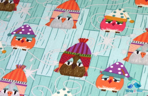 Owls In Hats (Aint Life A Hoot Collection) Premium Cotton Fabric