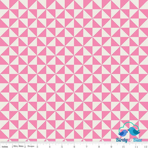Pinwheel Pink (Teddy Bear Picnic Collection) Premium Cotton Fabric