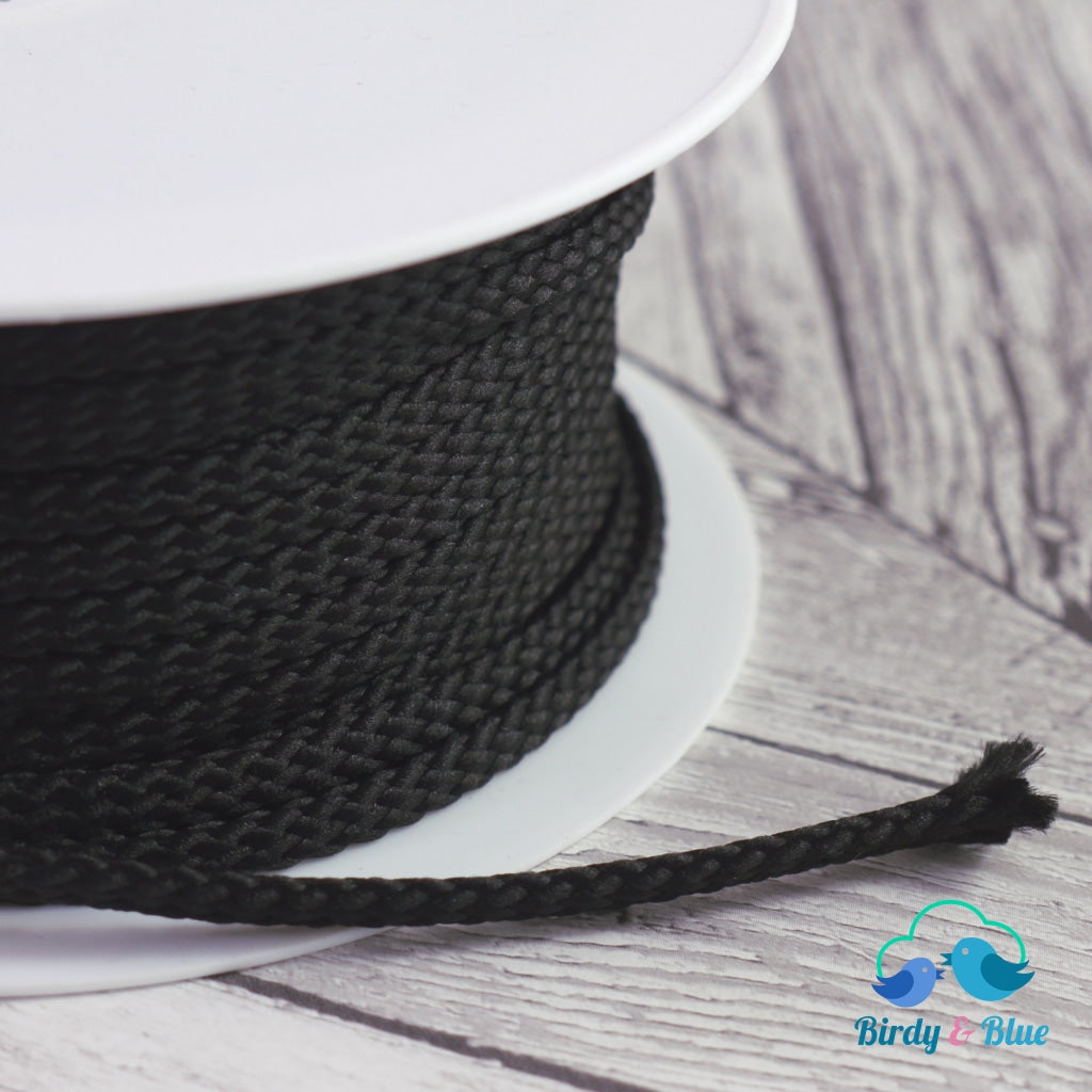 Polyester Cord Black 6Mm (Per Metre)