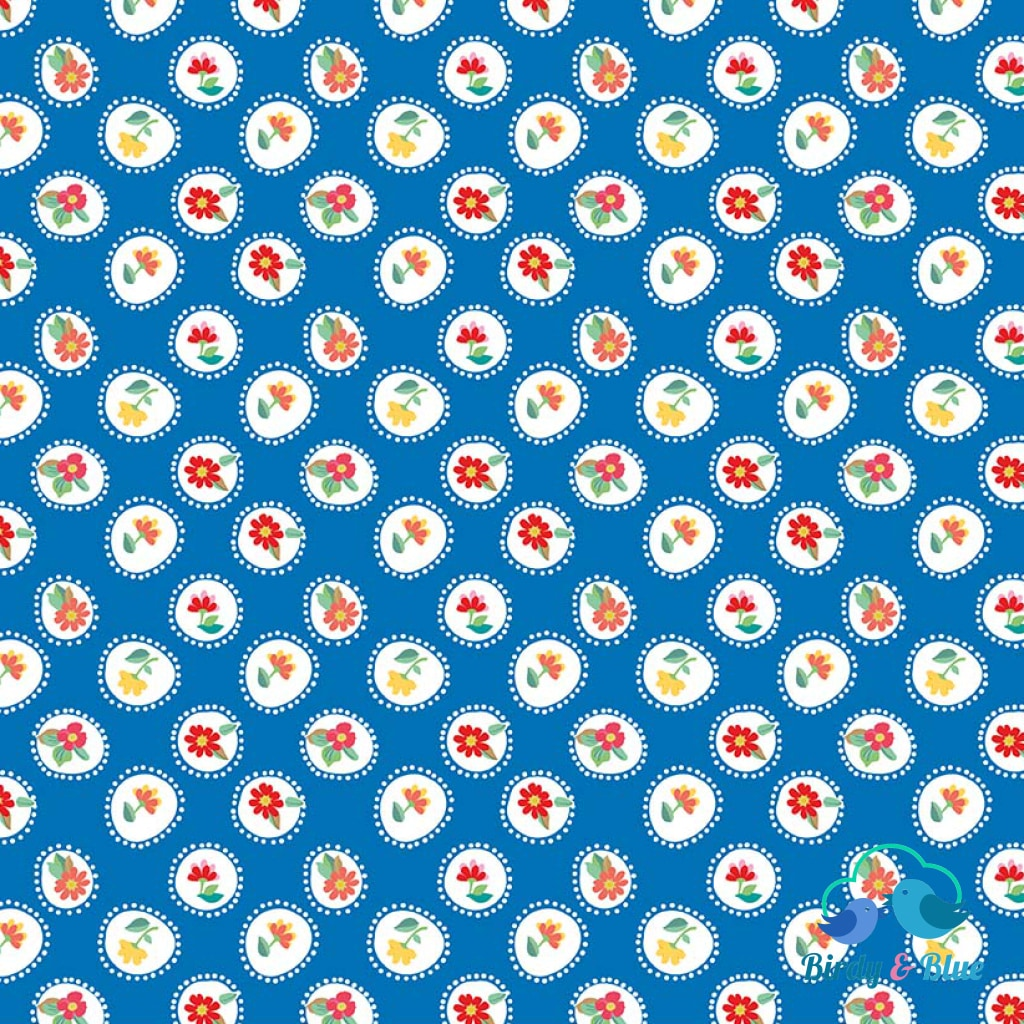 Posie Blue (Hand Picked Collection) Premium Cotton Fabric