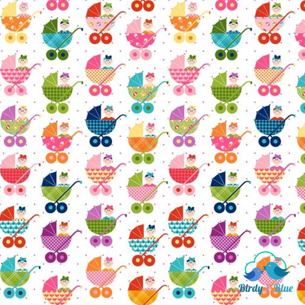 Prams Allover (Cutie Tootie Collection) Premium Cotton Fabric
