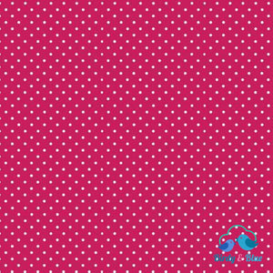 Raspberry Pink Dot (Basics Collection) Premium Cotton Fabric