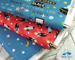 Ready Your Rockets Glow-In-The-Dark (Super Fred Collection) Premium Cotton Fabric