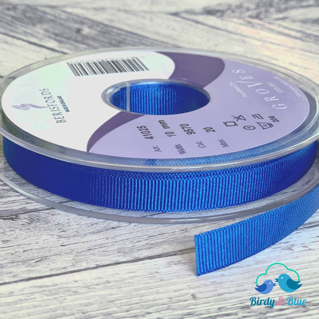 Royal Blue Grosgrain Ribbon 10Mm (Per Metre) #9570