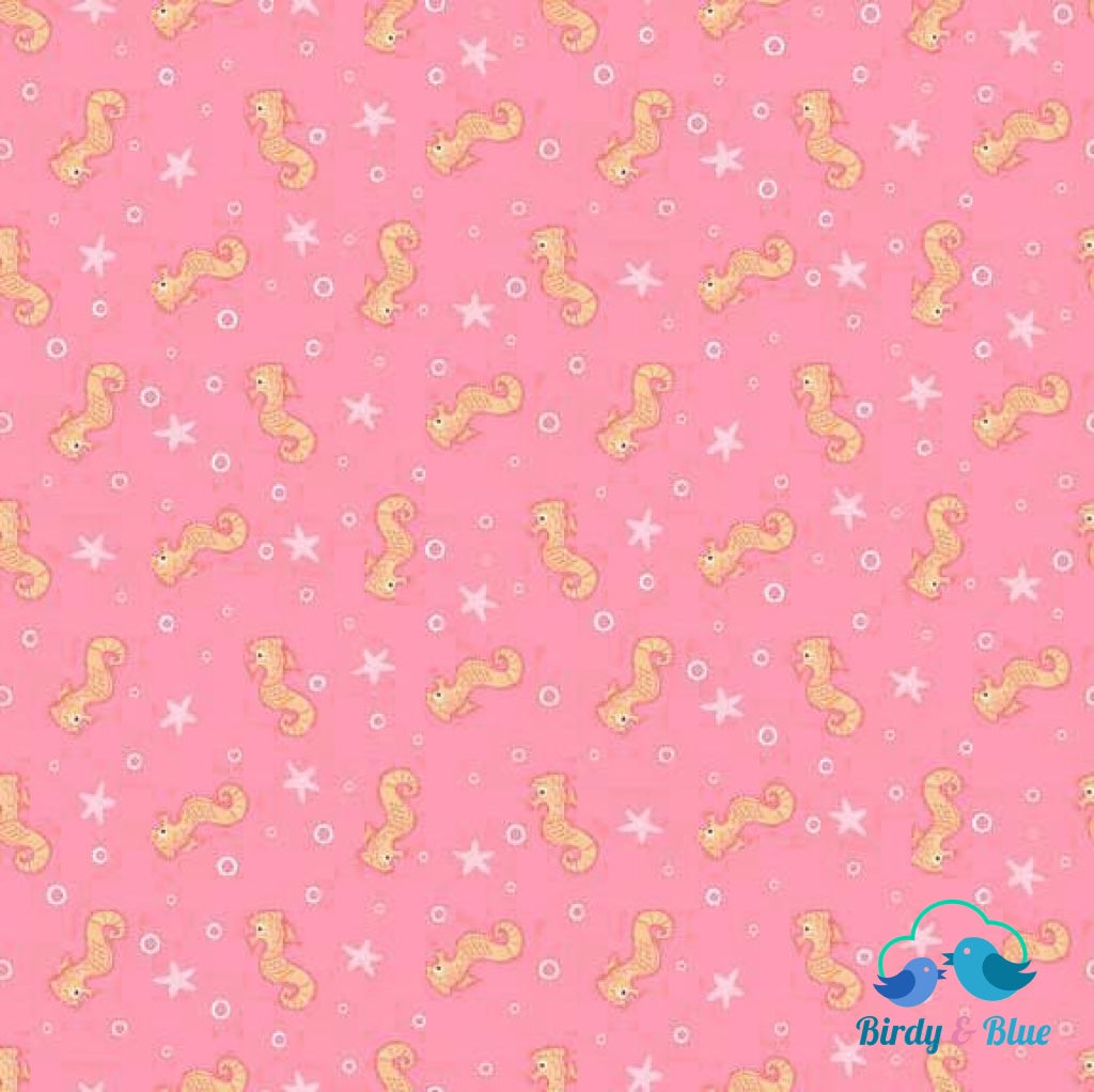 Seahorses Pink (Merryn Collection) Premium Cotton Fabric