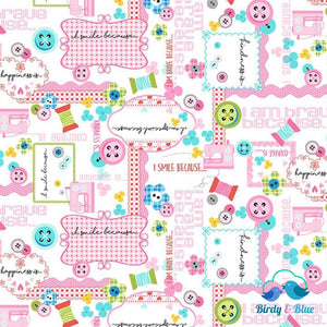 Sewing Collage (Sew Kind Collection) Premium Cotton Fabric
