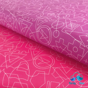 Shapes Orchid (Roadtrip Collection) Premium Cotton Fabric
