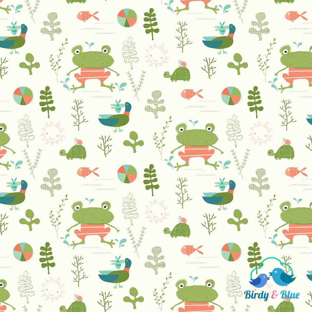 Splash Cream (Ready Set Splash! Collection) Premium Cotton Fabric