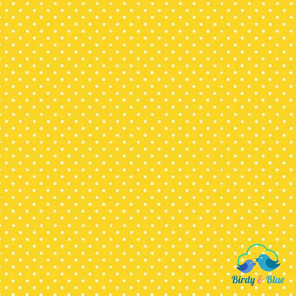 Sunshine Yellow Dot (Basics Collection) Premium Cotton Fabric