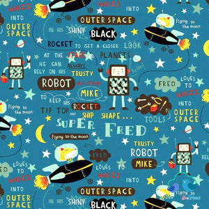 Super Fred Glow-In-The-Dark (Super Collection) Premium Cotton Fabric