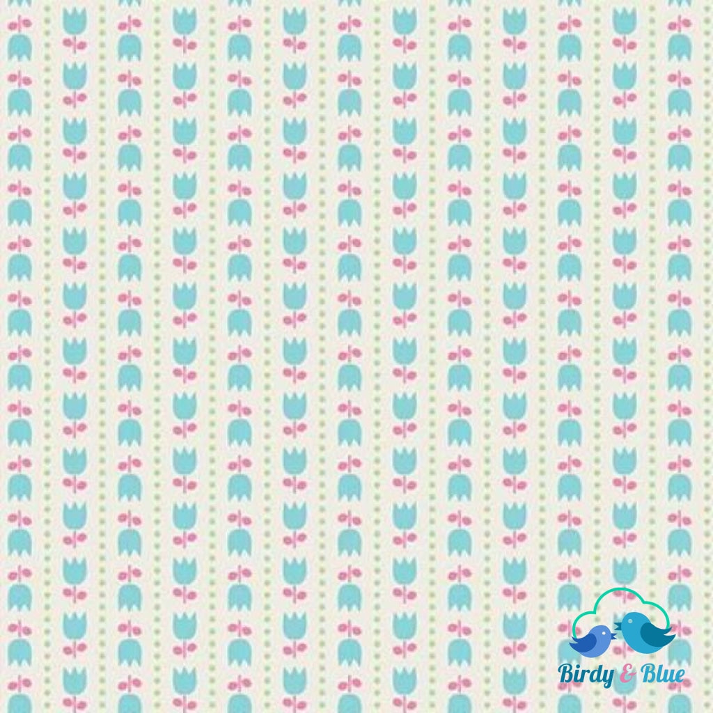 Tulip Stripe Cream (Teddy Bear Picnic Collection) Premium Cotton Fabric