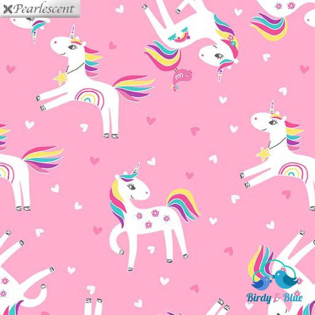 Unicorn Love Pink (Unicorn Magic Collection) Premium Cotton Fabric