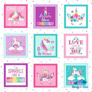 Unicorn Magic Panel Premium Cotton Fabric