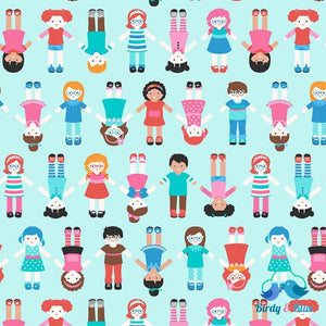 World Children Blue (Sew Kind Collection) Premium Cotton Fabric