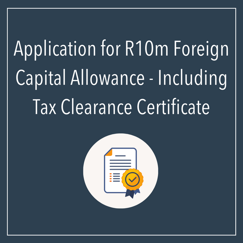 Application For R10m Foreign Capital Allowance
