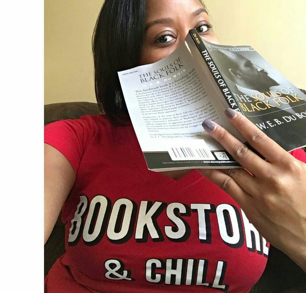 """Bookstore & Chill"" Women's V-Neck"