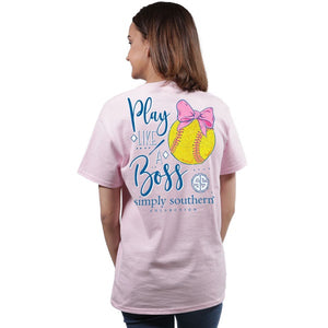 Preppy Softball (Lulu) Simply Southern Tee