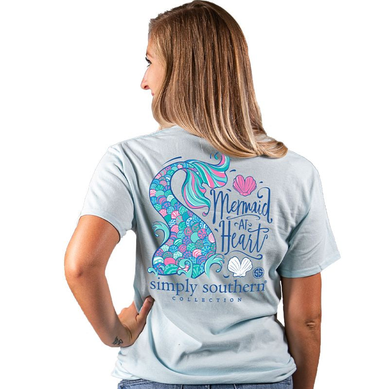 Youth Mermaid (Ice) Simply Southern Tee