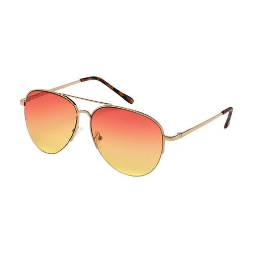Weekend Sunglasses - Gold/Red to Yellow Lens