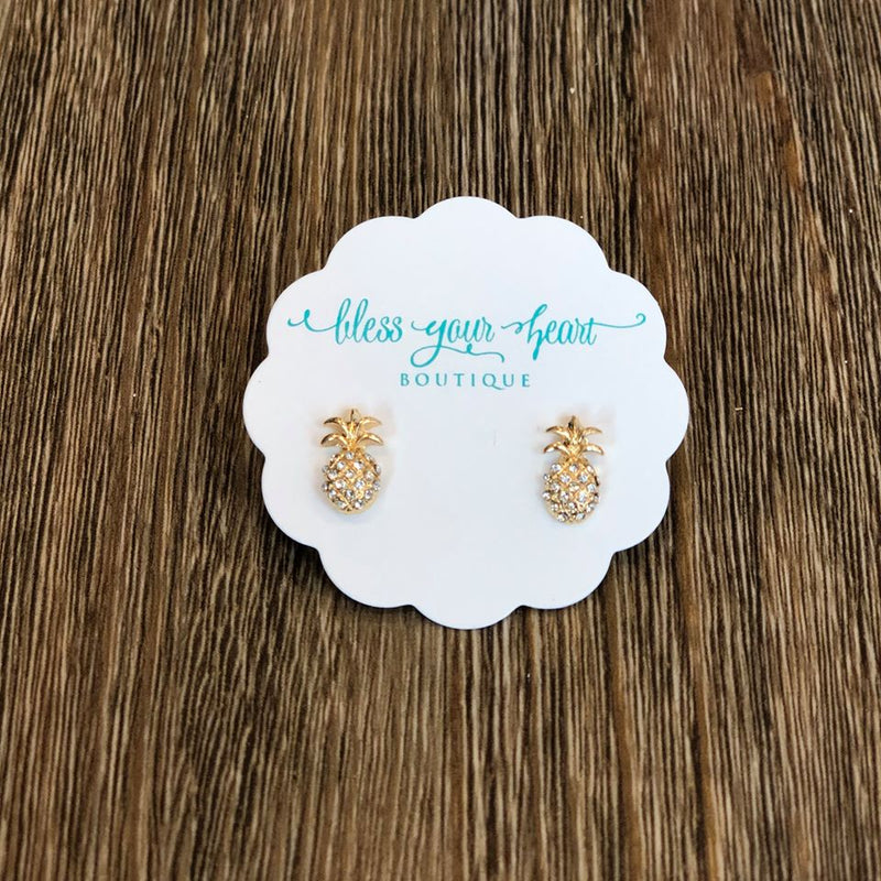 Phoebe Mini Pineapple Stud Earrings