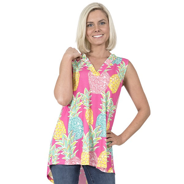 Simply Southern Charleston Sleeveless V-Neck Blouse