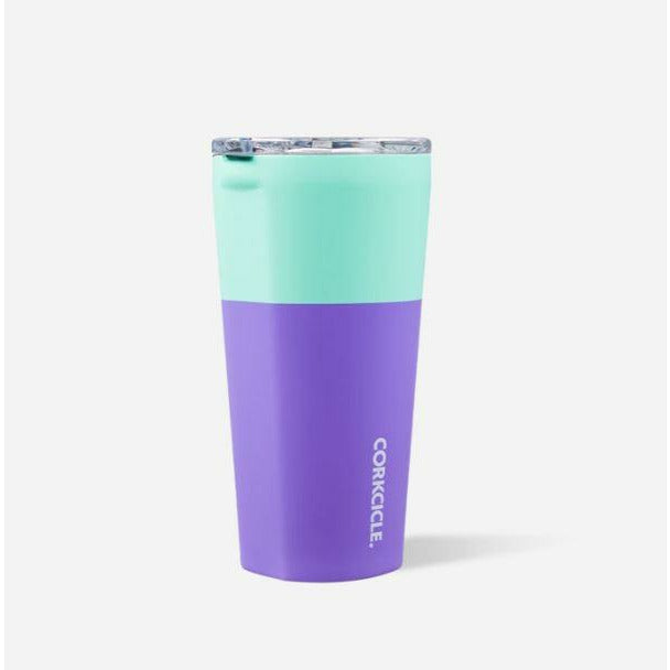 16 oz Corkcicle Tumbler - Colorblock Mint/Berry