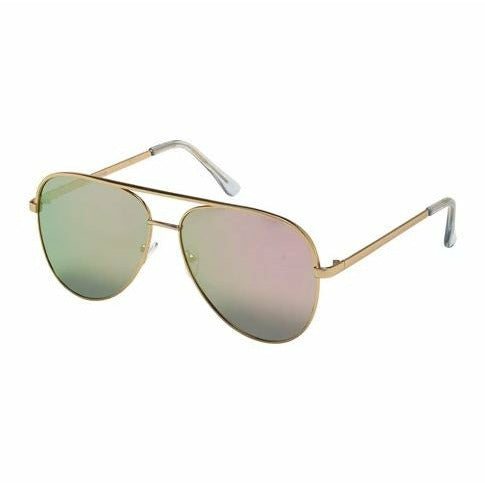 Jade Sunglasses - Gold/Rose Gold Mirror Lenses