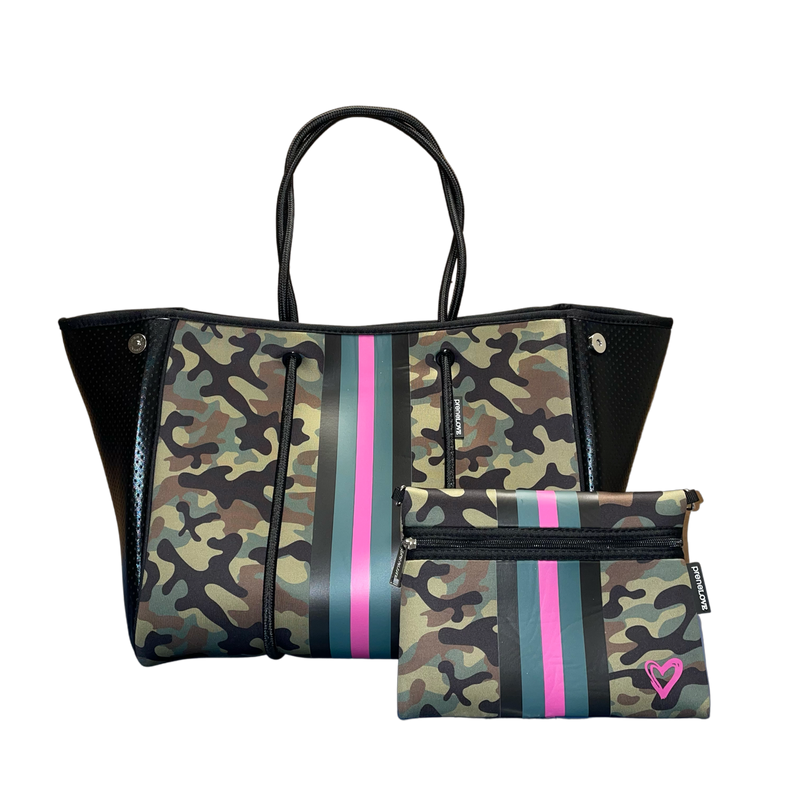 Large Prenelove Tote - Pink Army
