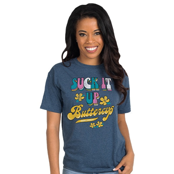 Vintage Buttercup (Denim) Simply Southern Tee