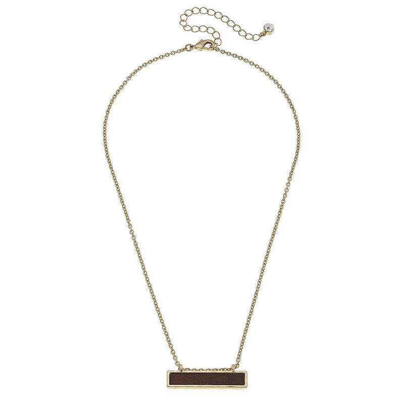 Wood Bar Necklace, 16