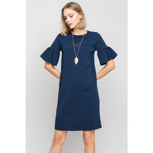 Chelsea Dress with Ruffle Short Sleeve