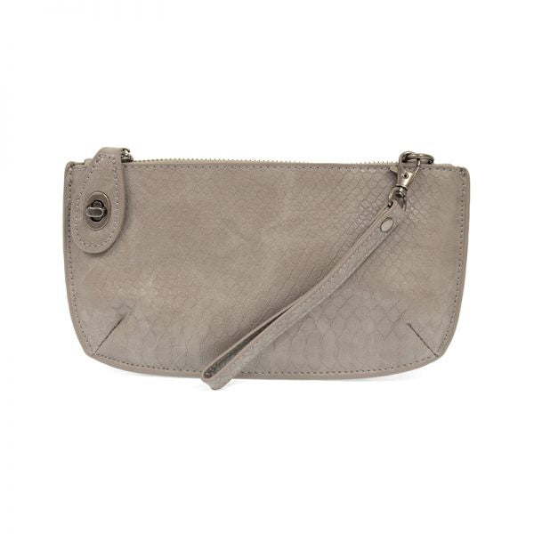 Joy Crossbody Wristlet - Smoke Grey New Python