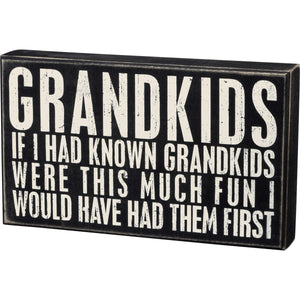 Grandkids Box Sign