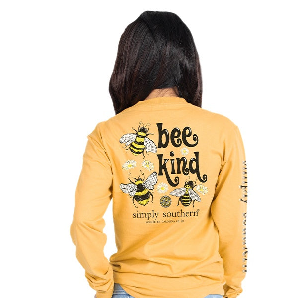 Bee (Mustard) Long Sleeve Simply Southern Tee