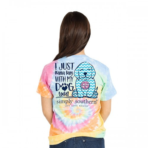Youth Preppy Dog (Tie Dye) Simply Southern Tee