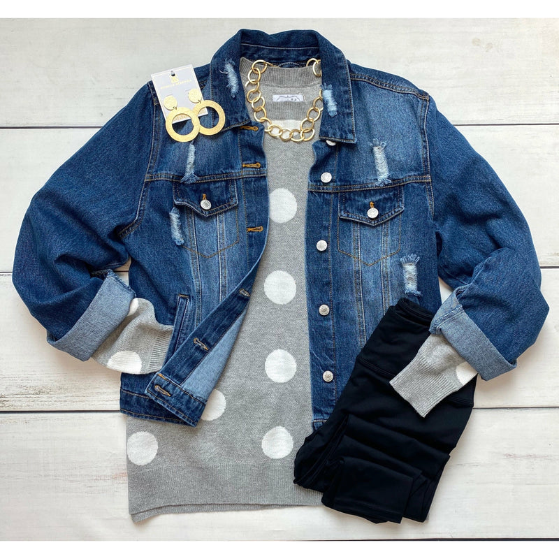 Levi Slightly Distressed Denim Jacket