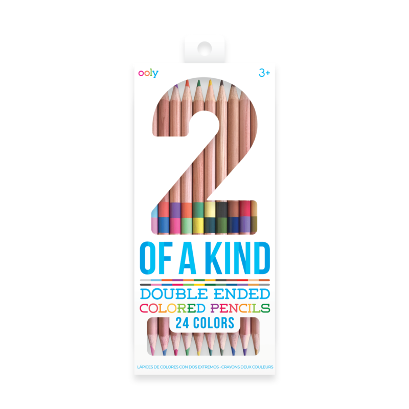 2 of a Kind Double-Ended Colored Pencils (Set of 12/24 Colors)