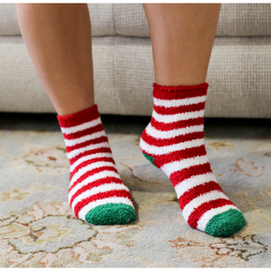 Holiday Stripe Cozy Socks