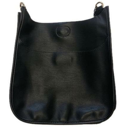 Vegan Leather Classic Messenger Bag - Black (BAG ONLY)