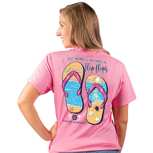 Flip Flop (Flamingo) Simply Southern Tee
