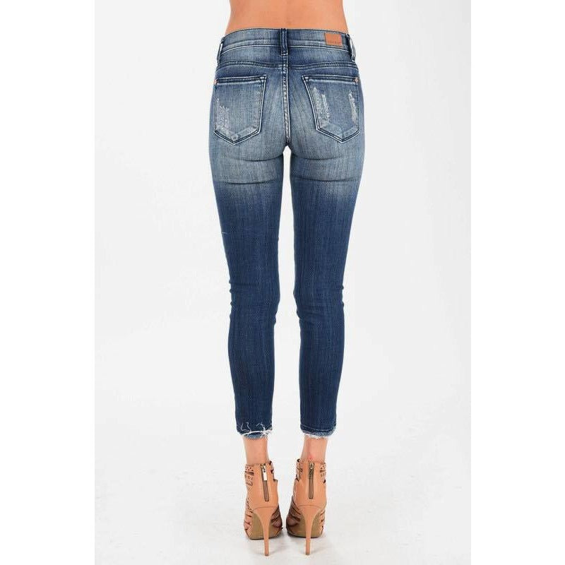 Cropped Ankle Fray Skinny Jean