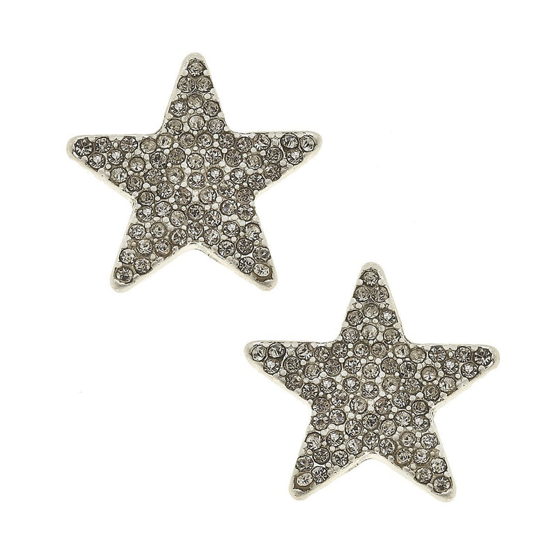 Star Pave Stud Earrings