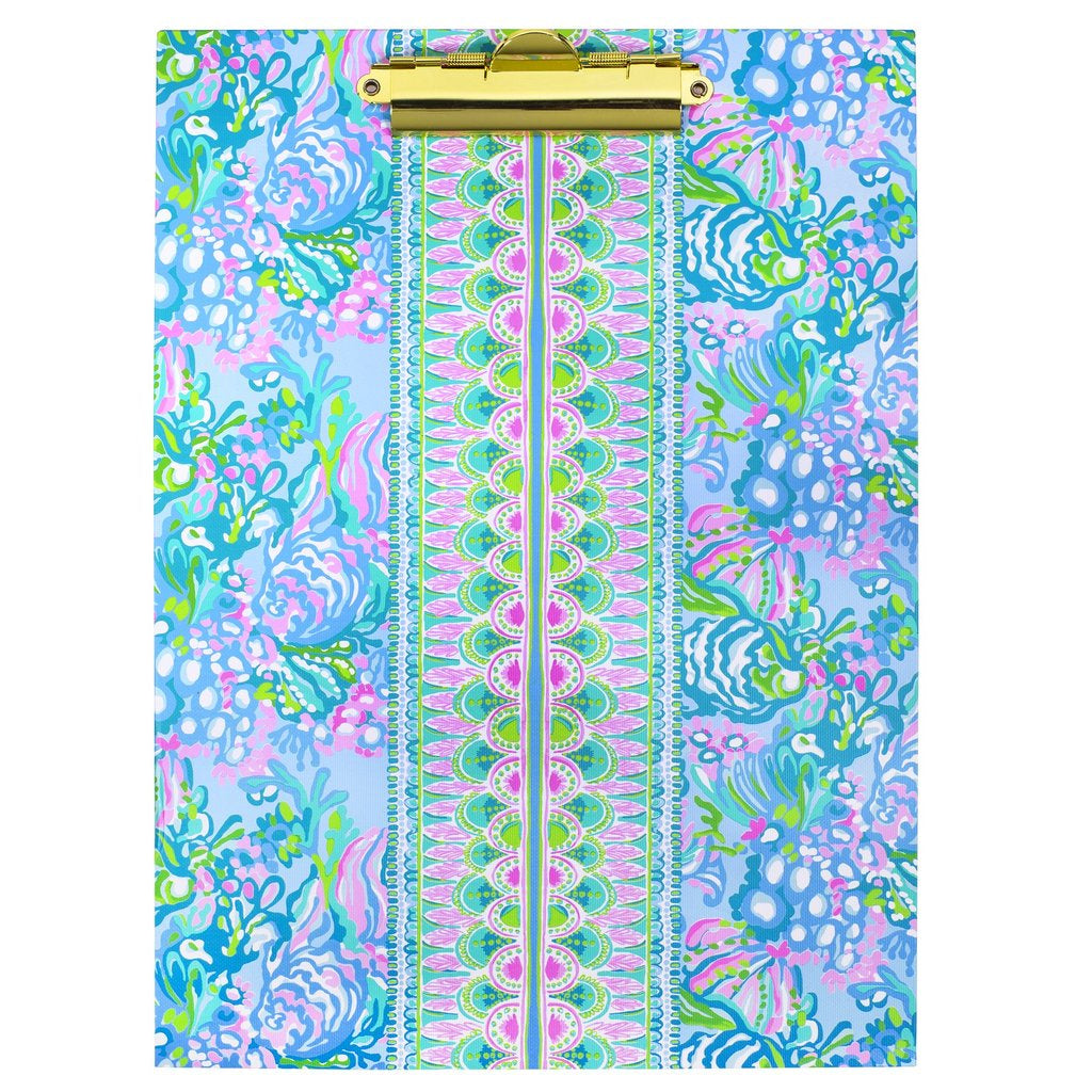 Lilly Pulitzer Clipboard Folio -  Aqua La Vista