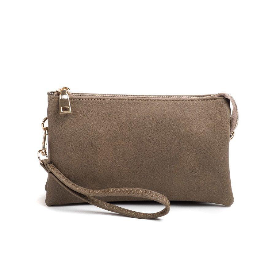 Khaki Wristlet Crossbody ($6 to monogram)