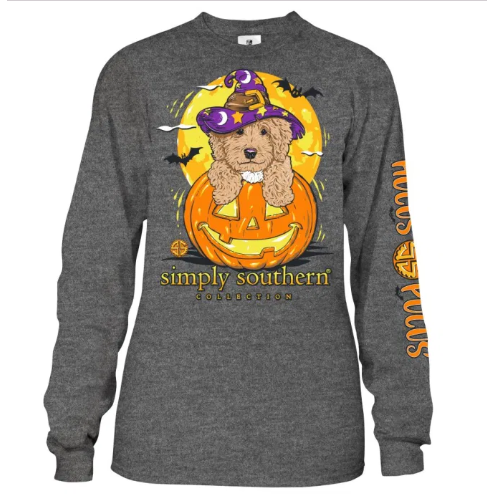 Hocus Pocus (Dark Heather Gray) Long Sleeve Simply Southern Tee