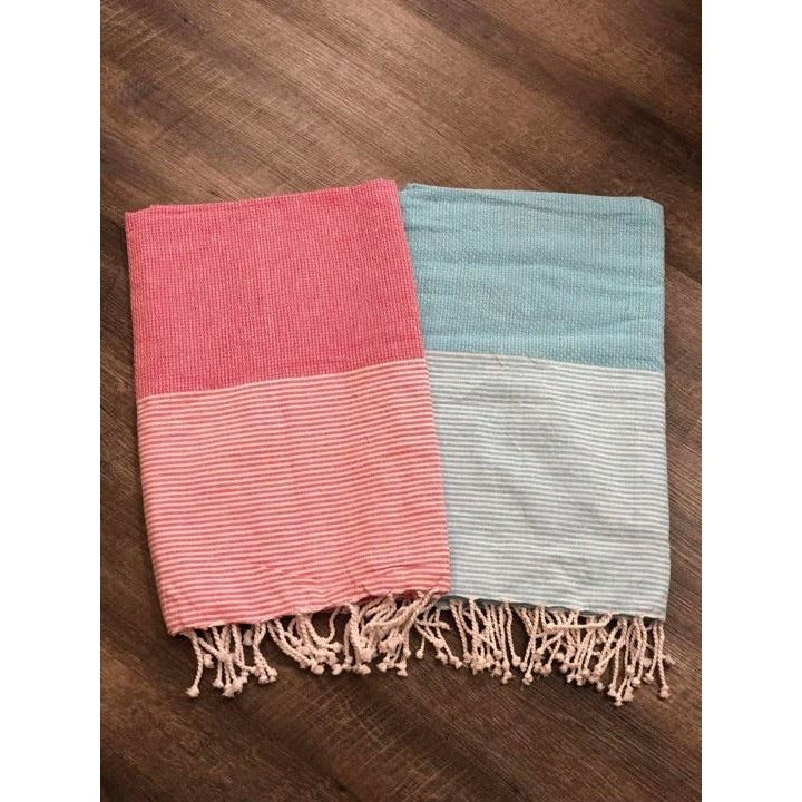 Stripe Beach Towel ($6 to monogram)