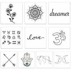 The Dreamers Pack Temporary Tattoos